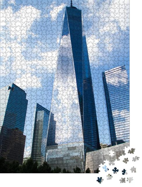 """Puzzle 1000 Teile """"One World Trade Center, New York"""""""