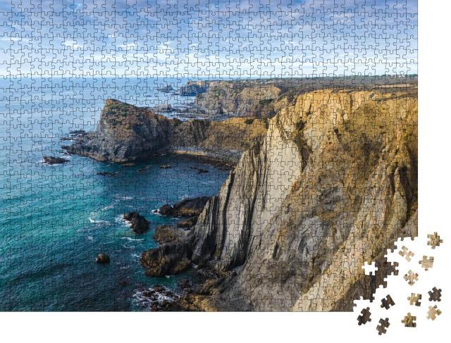 """Puzzle 1000 Teile """"Felsige Küste im Naturpark an der Vicentina-Küste, Algarve, Portugal"""""""