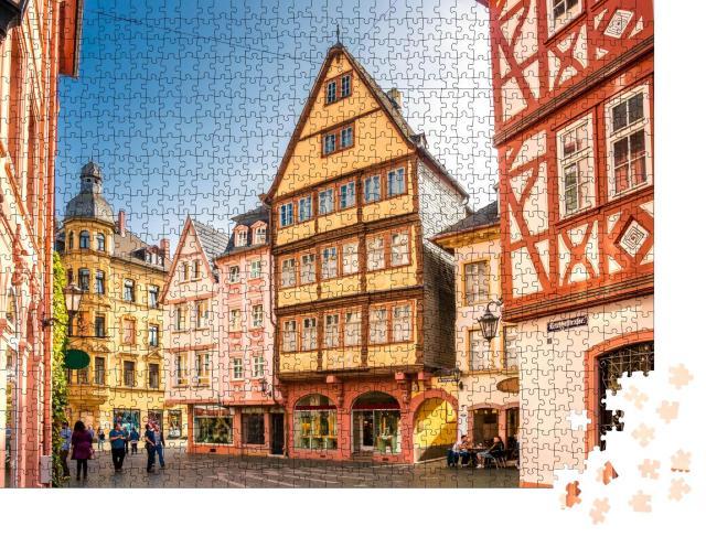 """Puzzle 1000 Teile """"Mainz: historische Häuser der Altstadt, Deutschland"""""""