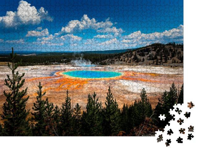 "Puzzle 1000 Teile ""Atemberaubende Grand Prismatic Spring im Yellowstone National Park"""