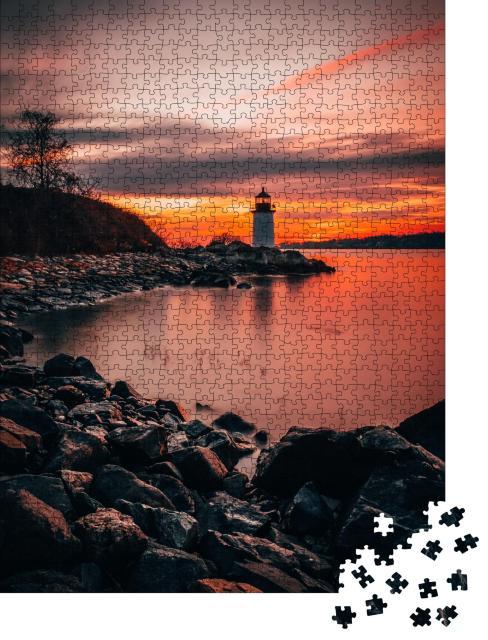 "Puzzle 1000 Teile ""Salem, Massachusetts: Leuchtturm bei Fort Pickering, Winter Island"""