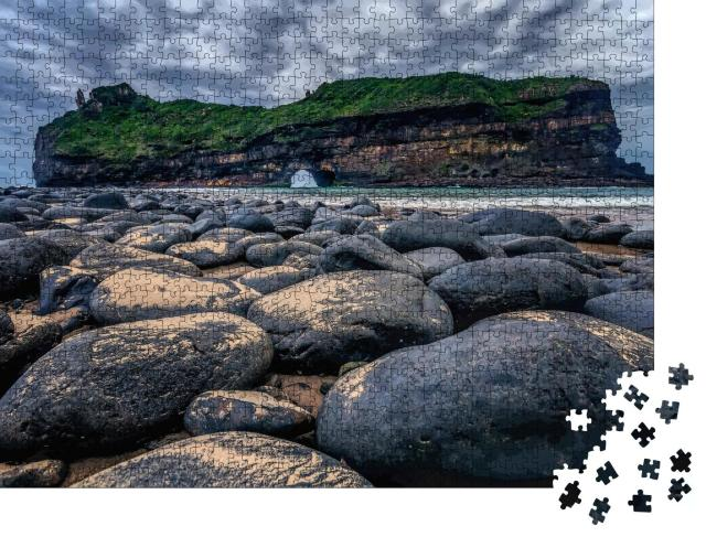 """Puzzle 1000 Teile """"Hole in the Wall an der Coffee Bay, Südafrika"""""""