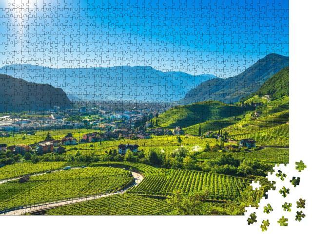 """Puzzle 1000 Teile """"Weinberge von Santa Maddalena, Südtirol, Italien"""""""