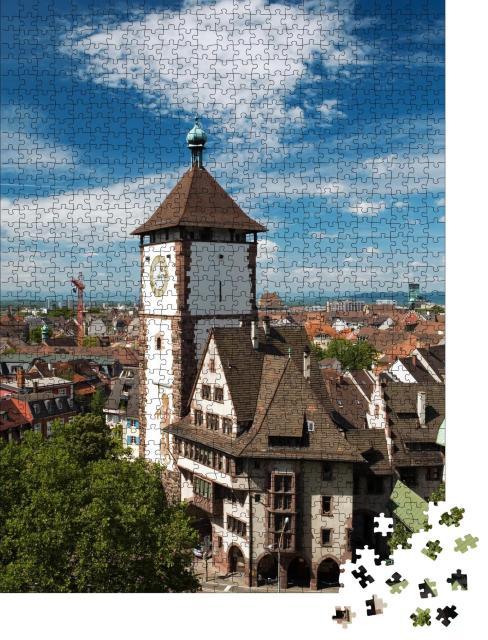 """Puzzle 1000 Teile """"Freiburg im Breisgau, Schwabentor"""""""