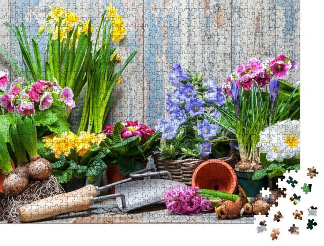 """Puzzle 1000 Teile """"Frühlingsblumen, bereit zum Einpflanzen"""""""