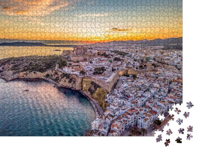"""Puzzle 1000 Teile """"Wunderschöner Sonnenuntergang über Ibiza"""""""