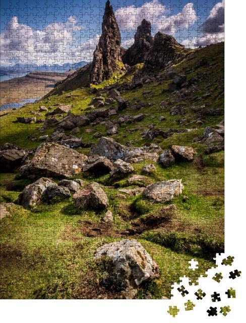 """Puzzle 1000 Teile """"Der alte Mann von Storr, Isle of Skye, Schottland"""""""