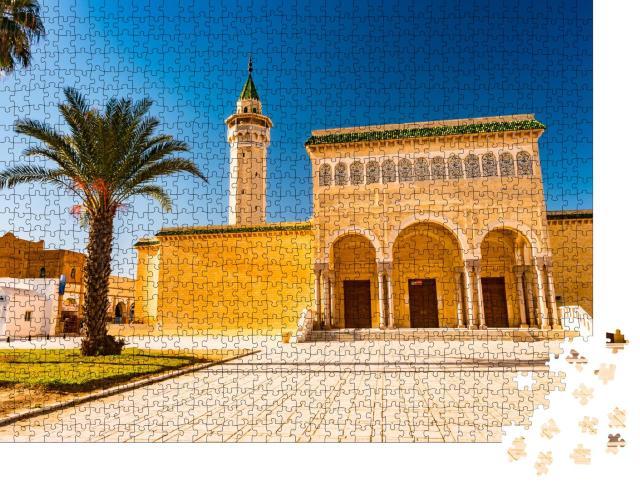 """Puzzle 1000 Teile """"Bourguiba Moschee von Monastir, Architektur in Tunesien"""""""