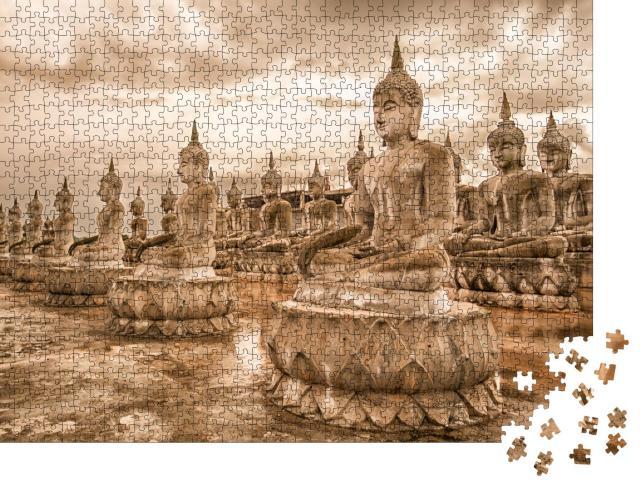 "Puzzle 1000 Teile ""Buddha-Park"""