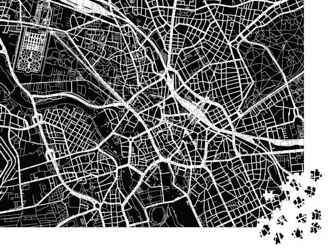 """Puzzle 1000 Teile """"Vektor-Stadtplan von Hannover, Deutschland"""""""