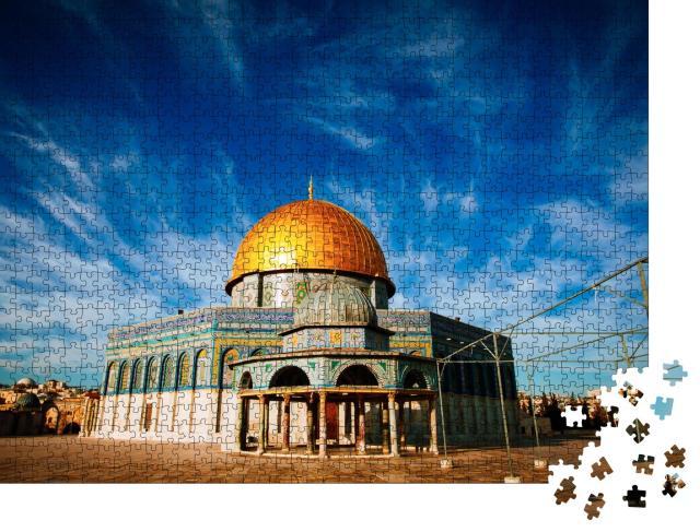 """Puzzle 1000 Teile """"Der Felsendom , Jerusalem, Israel"""""""