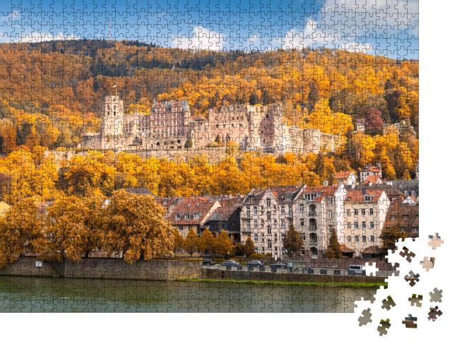 """Puzzle 1000 Teile """"Die Ruine des Heidelberger Schlosses, Deutschland"""""""