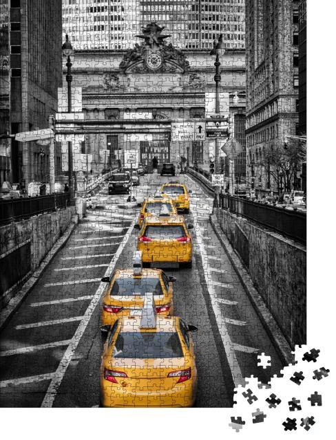 "Puzzle 1000 Teile ""Gelbe Taxen vor dem Grand Central Terminal, New York"""