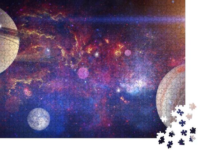 """Puzzle 1000 Teile """"Atemberaubende Aussicht auf eine kosmische Galaxie"""""""