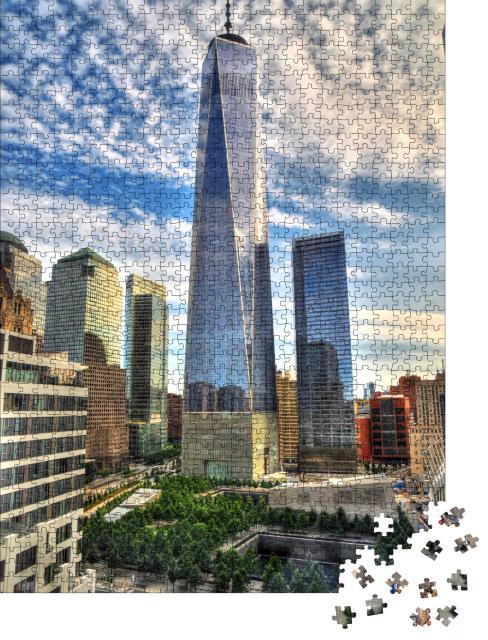 """Puzzle 1000 Teile """"Wolkenkratzer Downtown Manhattan"""""""