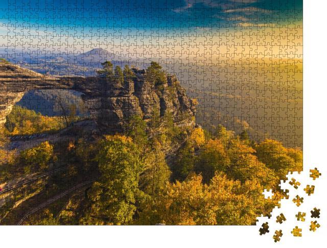 """Puzzle 1000 Teile """"Pravcicka Tor, Böhmisch-Sächsische Schweiz, Tschechische Republik"""""""