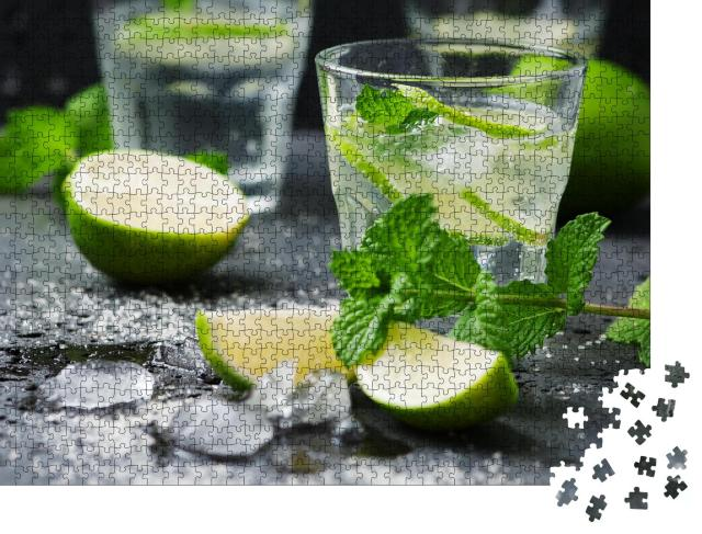"""Puzzle 1000 Teile """"Mojito-Cocktail: traditionell serviert"""""""