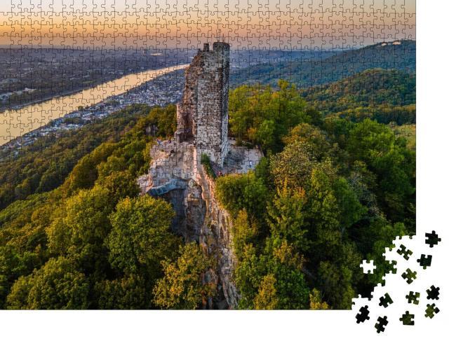 """Puzzle 1000 Teile """"Mystischer Drachenfels am Rhein bei Bonn"""""""