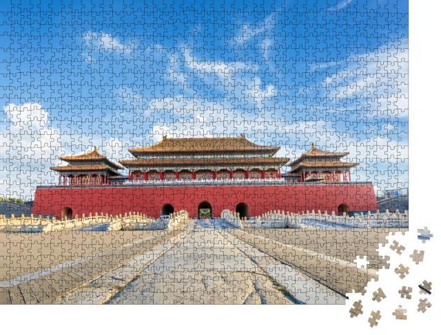 """Puzzle 1000 Teile """"Aie alten Königspaläste der Verbotenen Stadt, Peking, China"""""""