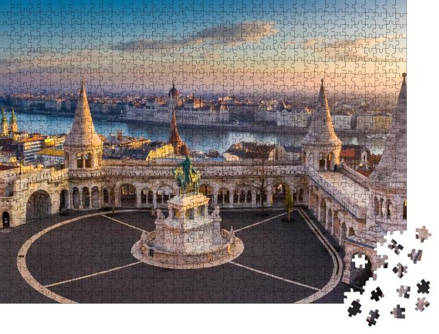 """Puzzle 1000 Teile """"Die berühmte Fischerbastei im Sonnenaufgang, Budapest, Ungarn"""""""