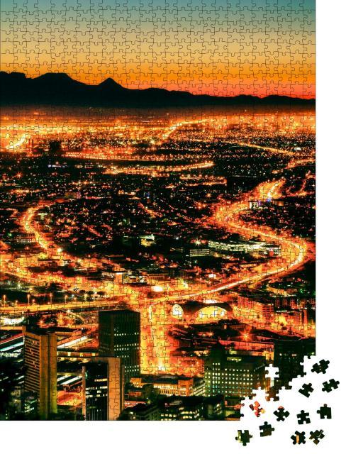 """Puzzle 1000 Teile """"Nächtlicher Blick auf Kapstadt vom Signal Hill aus"""""""