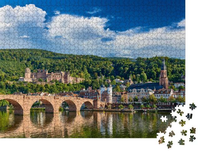 """Puzzle 1000 Teile """"Heidelberg am Neckar in Baden-Württemberg, Deutschland"""""""