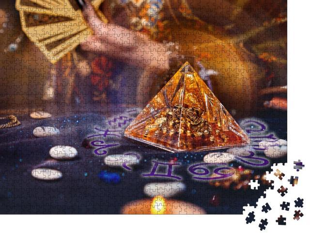 """Puzzle 1000 Teile """"Magische Glaspyramide"""""""