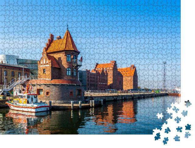 """Puzzle 1000 Teile """"Yachthafen von Stralsund, Deutschland"""""""