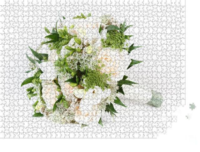 """Puzzle 1000 Teile """"Blumenbouquet zur Hochzeit"""""""