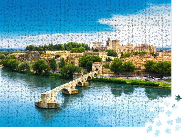 """Puzzle 1000 Teile """"Saint Benezet Brücke, Avignon, Frankreich"""""""