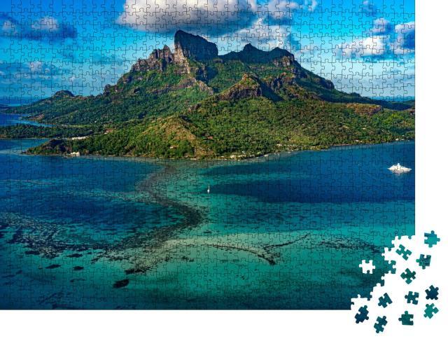 """Puzzle 1000 Teile """"Bora Bora Luftbild Panorama Landschaft Französisch-Polynesien"""""""