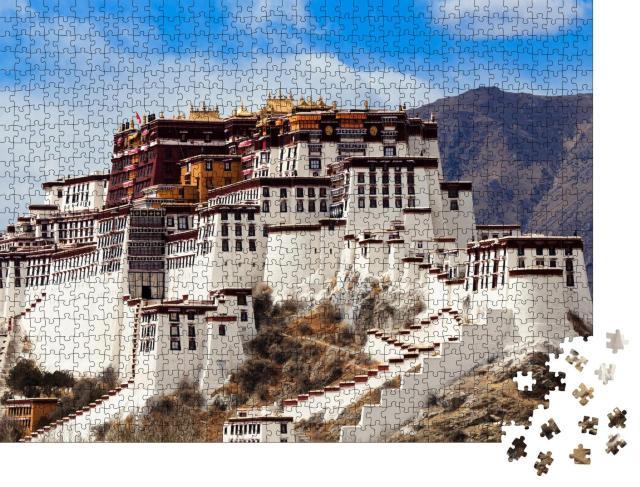 """Puzzle 1000 Teile """"Beeindruckender Potala-Palast in Tibet, UNESCO-Weltkulturerbe"""""""
