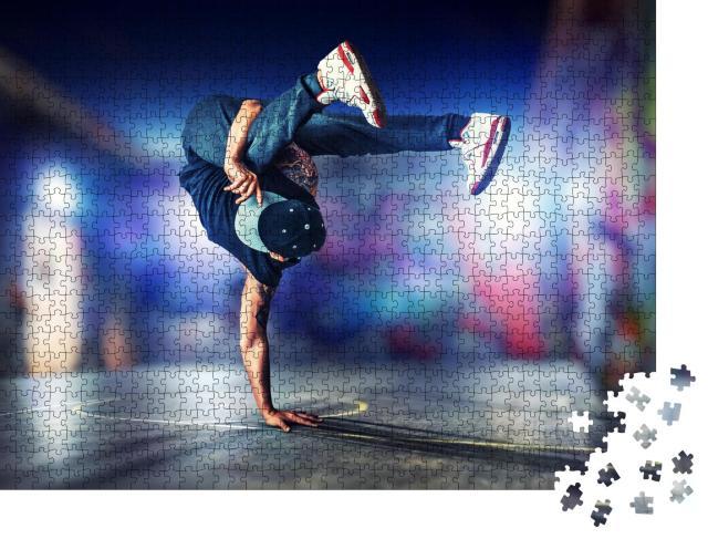 """Puzzle 1000 Teile """"Akrobatischer Breakdance, Studioaufnahme"""""""