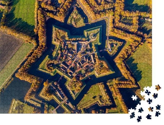 """Puzzle 1000 Teile """"Festungsdorf Bourtange, Provinz Groningen, Niederlande"""""""