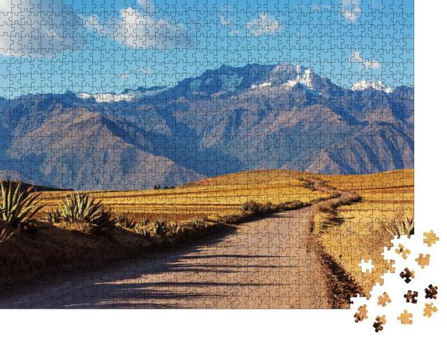 """Puzzle 1000 Teile """"Pampa-Landschaft in Cordillera de Los Andes, Peru, Südamerika"""""""