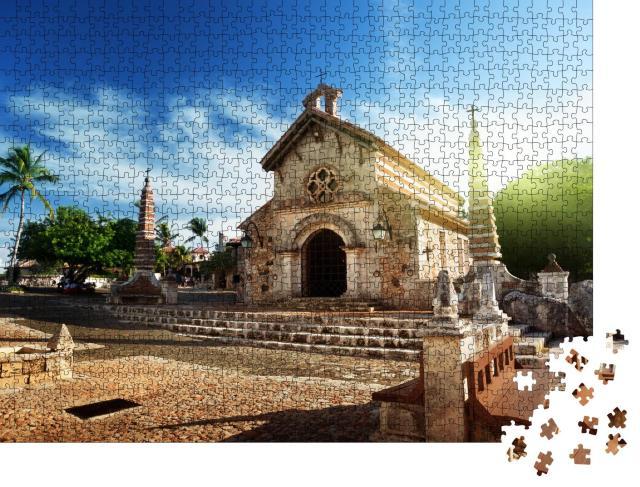 """Puzzle 1000 Teile """"Dorf Altos de Chavon, Dominikanische Republik"""""""