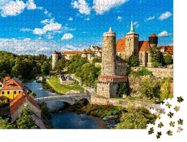 """Puzzle 1000 Teile """"Blick über die Hauptspree auf Bautzen, Deutschland"""""""