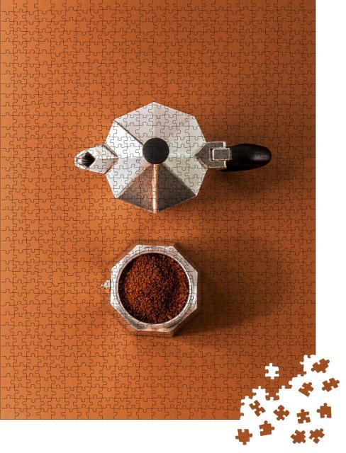 """Puzzle 1000 Teile """"Die italienische Art des perfekten Kaffees"""""""