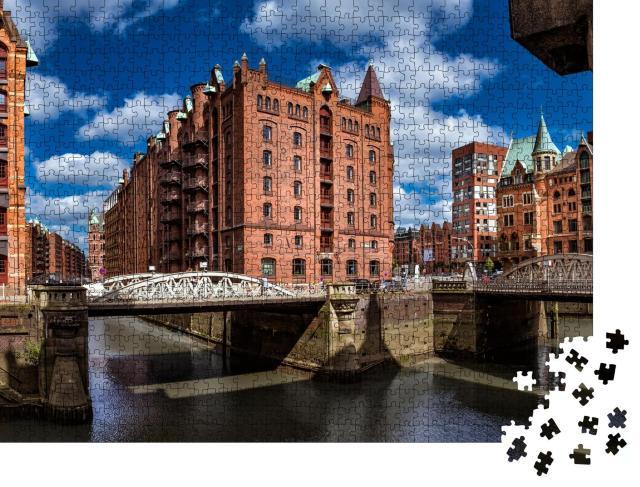 """Puzzle 1000 Teile """"Hamburg Speicherstadt"""""""