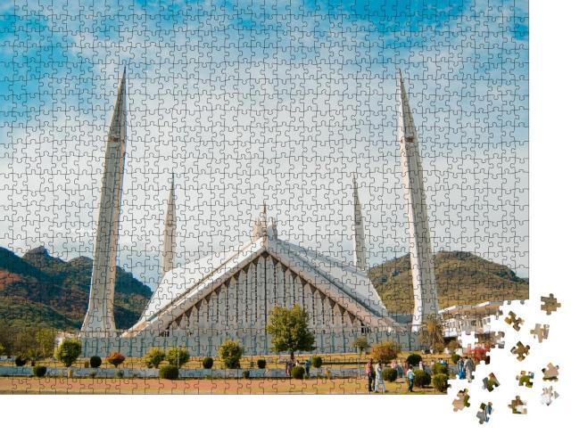 """Puzzle 1000 Teile """"Faisal-Moschee: ein Gebäude ein Islamabad"""""""