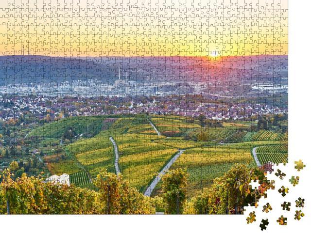 """Puzzle 1000 Teile """"Bunte Weinbauregion Stuttgart im Süden von Deutschland"""""""