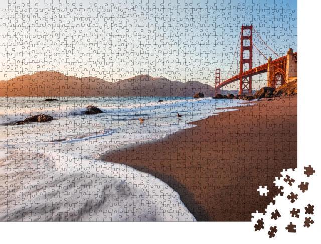 """Puzzle 1000 Teile """"Blick vom Marshall's Beach auf die Golden Gate Bridge, San Francisco, USA"""""""