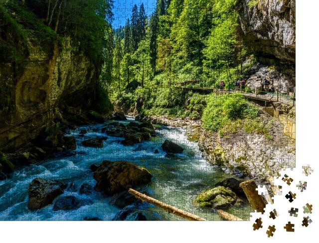 """Puzzle 1000 Teile """"Wilde Breitachklamm, Bayern, Deutschland"""""""