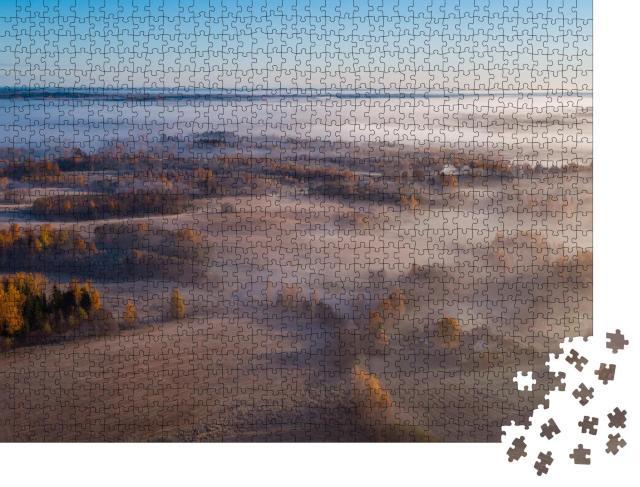 "Puzzle 1000 Teile ""Nebliger Herbstmorgen in Estland"""