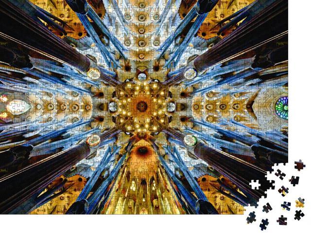 """Puzzle 1000 Teile """"Dach der Sagrada Familia, Gaudís Meisterwerk in Barcelona"""""""