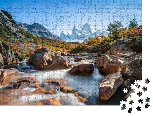 """Puzzle 1000 Teile """"Herbst am Fitz Roy Moutain, Patagonien, El Chalten, Argentinien"""""""