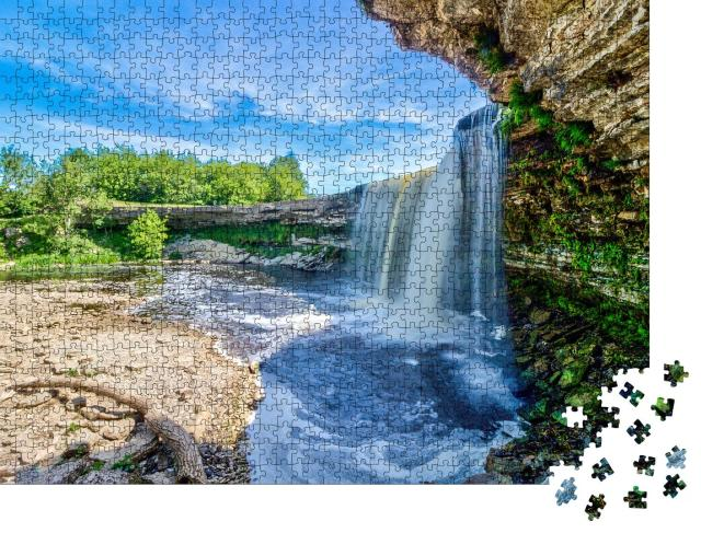 """Puzzle 1000 Teile """"Jagala Wasserfall in Nord-Estland"""""""