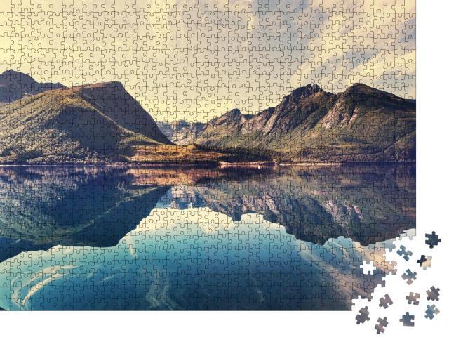 """Puzzle 1000 Teile """"Landschaft in Norwegen"""""""