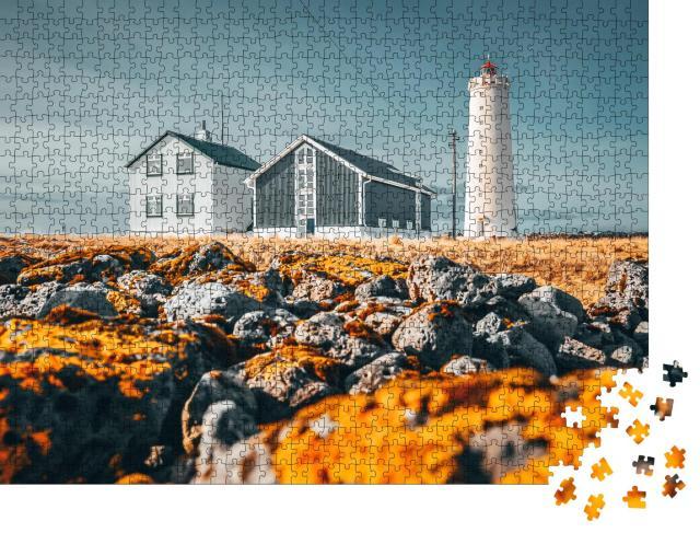 "Puzzle 1000 Teile ""Grotta-Leuchtturm, Reykjavik, Island"""