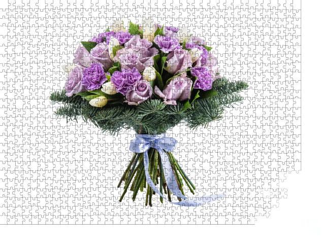 """Puzzle 1000 Teile """"Bunte Blumen als Geschenk"""""""